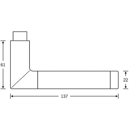 FSB Drückerlochteil 10 1077 Aluminium F1 Edelstahl