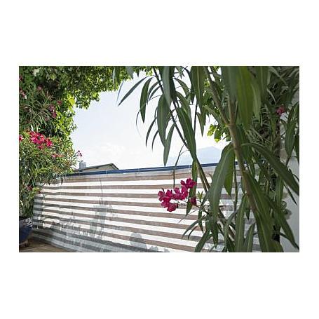 Balkonblende Ibiza 5x0,9m, grau/weiß