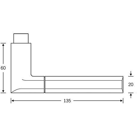 FSB Türdrückerpaar 10 1078 Aluminium F1