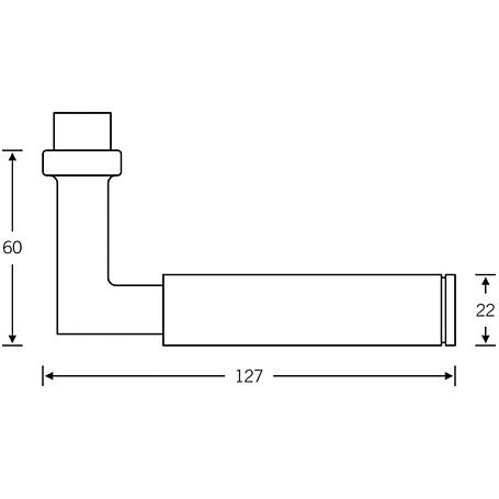 FSB Drückerlochteil 10 1102 Aluminium F1 schwarz
