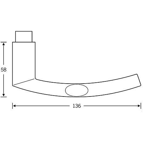 FSB Türdrückerpaar 10 1107 Aluminium F1