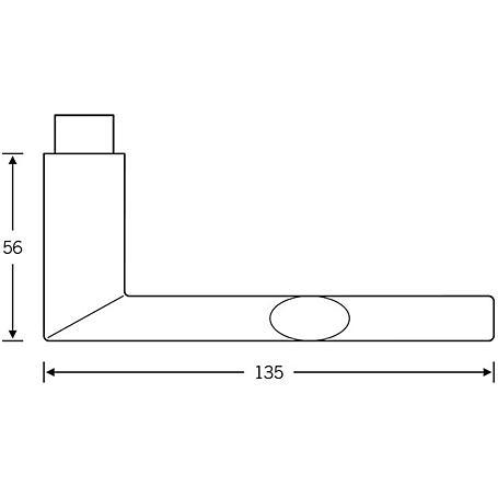 FSB Türdrückerpaar 10 1108 Aluminium F1