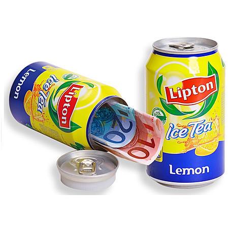 Dosensafe als Geheimversteck in Lipton Eistee-Dose