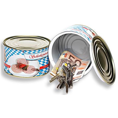 Dosensafe bayrische Schinkenwurstdose - Geheimfach