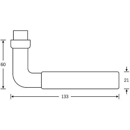 FSB Drückerlochteil 10 1171 Aluminium F1 rechts
