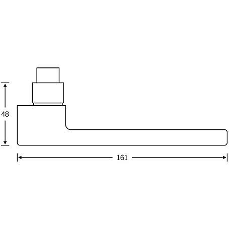 FSB Drückerlochteil 10 1183 Aluminium F1