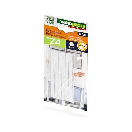 Magnet-Türschließer, 6 Stück, weiß