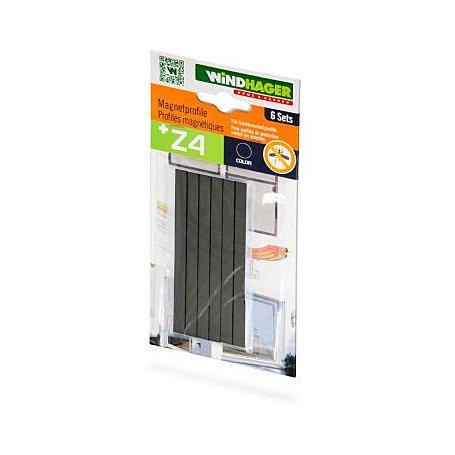 Magnet-Türschließer, 6 Stück, schwarz