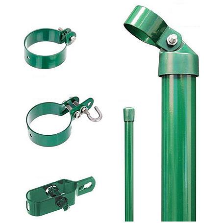 Zaunanschluss-Set 2S, grün, zE Ø76 1500 mm f. Tor