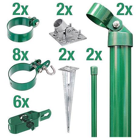 Zaunanschluss-Set 2S, grün, zA Ø76 1000 mm f. Tor