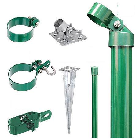 Zaunanschluss-Set 2S, grün, zA Ø76 1250 mm f. Tor