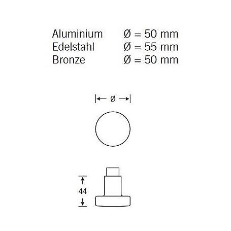 FSB Knopfdrücker Lochteil 08 0829 AluF1 Vierk. 8mm