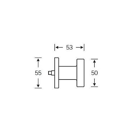 FSB Türknopf gegenseitige B. 23 0811 Aluminium F1
