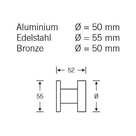 FSB Türknopf einseitige B. 23 0829 Aluminium F1