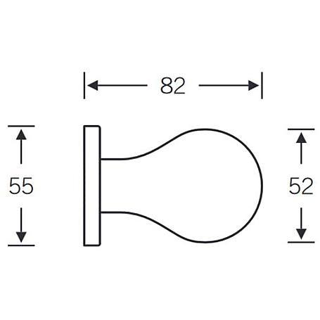 FSB Türknopf einseitige B. 23 0844 Aluminium F1