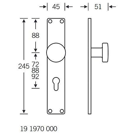 FSB Knopfschild 19 1970 Aluminium F1