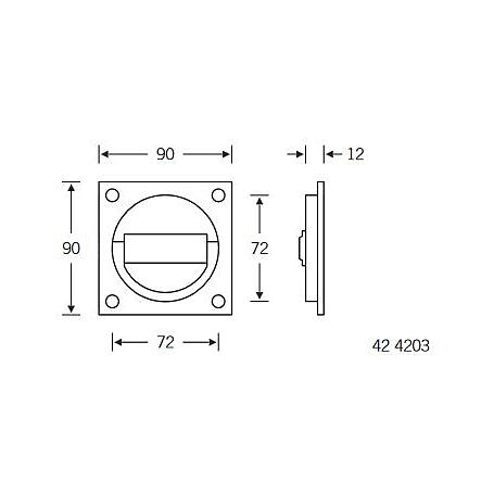 FSB Ringgriffmuschel 42 4203 Aluminium F2