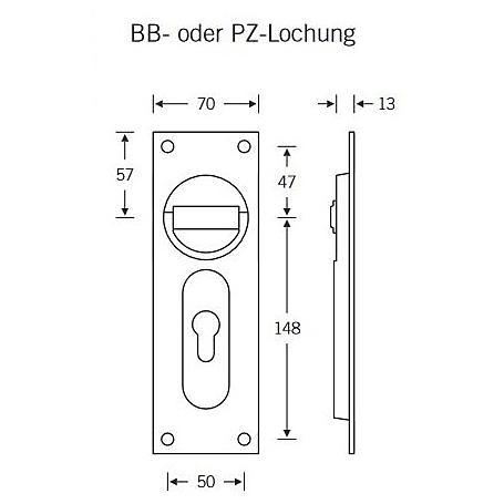 FSB Ringgriffmuschel 42 4205 BB AluF1 Vierkantloch
