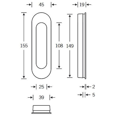 FSB Einlaßmuschel 42 4250 Aluminium F1