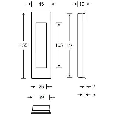 FSB Einlaßmuschel 42 4251 Aluminium F1