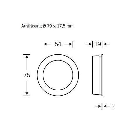 FSB Einlaßmuschel 42 4252 Aluminium F1