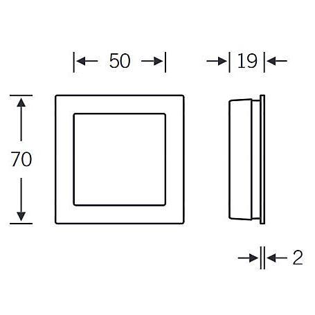 FSB Einlaßmuschel 42 4253 Aluminium F1