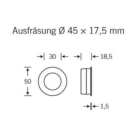 FSB Einlaßmuschel 42 4254 Edelstahl fein matt