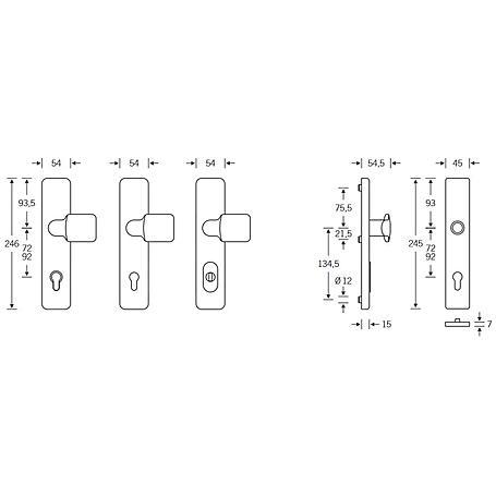 FSB SK2 Wechselgarnitur 73 7383 Alu F1 Kzs. PZ92mm
