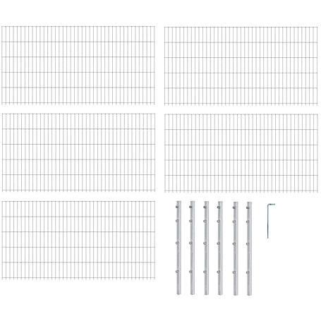 10m Doppelstabmatte-Set 6-5-6, fvz, 2000x800