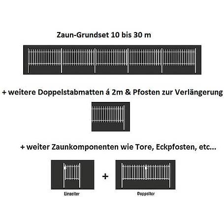 Doppelstabmatte-Set 6-5-6, grün, 2000x800, 10 m