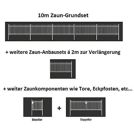 Doppelstabmatte-Anbauset 6-5-6, grün 2000x1000, 2m