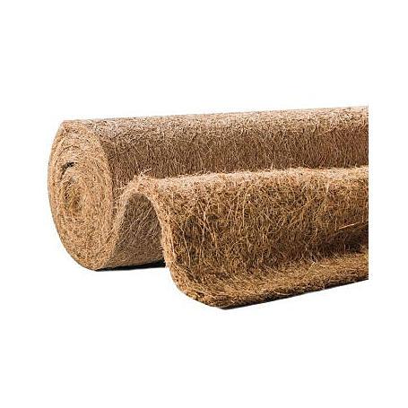 Kokos-Filzmatte 0,5x1,5m, 10mm, 1000g/m², natur