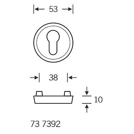 FSB Schutzrosette 73 7392 PZ Aluminium F4