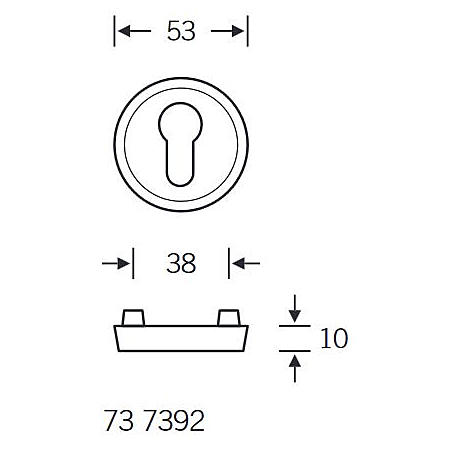 FSB Schutzrosette 73 7392 PZ Aluminium F7