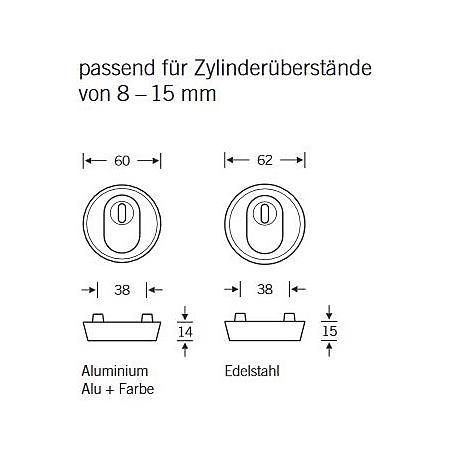 FSB Schutzrosette 73 7393 ZA Aluminium F1