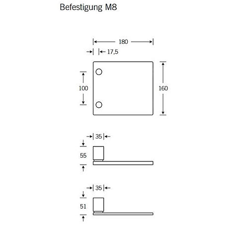 FSB Stoßgriff 61 6108 Edelstahl fein matt