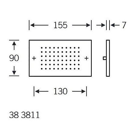 FSB Sprechplatte 38 3811 Edelstahl sichtb. Befest.