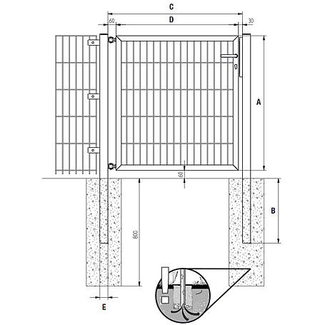 GAH Stabgitter Einzeltor FLEXO fvz 1250 x 2000 mm