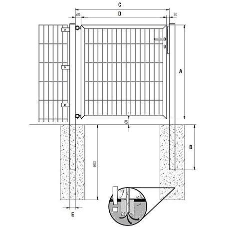 GAH Stabgitter Einzeltor FLEXO fvz 1500 x 800 mm