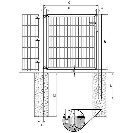 GAH Stabgitter Einzeltor FLEXO anth 2000 x 2000 mm