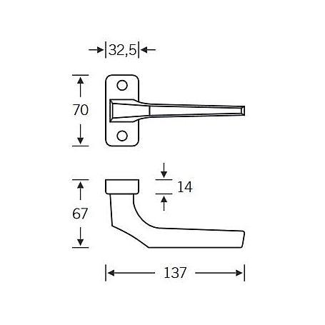 FSB Rahmentür Drückerlochteil 06 0620 Aluminium F7