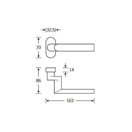 FSB Rahmentür Drückerlochteil 06 1108 Aluminium F1