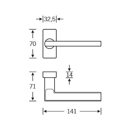 FSB Rahmentür Drückerlochteil 09 1035 Aluminium F1