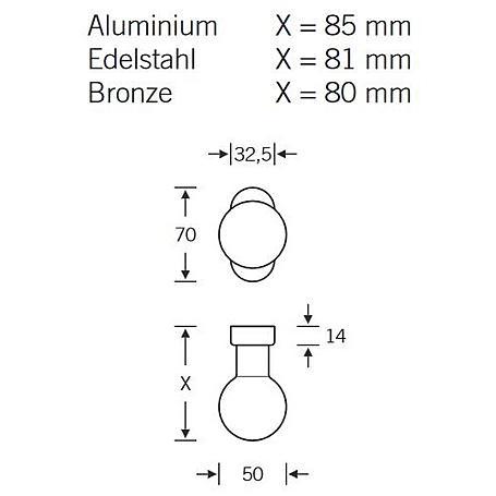 FSB Rahmentür Feuerschutz Türknopf 07 0802 Bronze