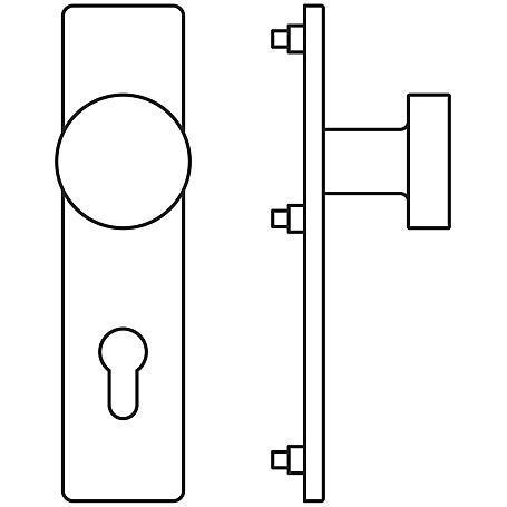 FSB Feuerschutz Türknopf 77 7972 Edels. PZ 92mm