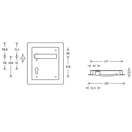 FSB Turnhallenmuschel 77 7950 li. 9mm PZ72mm AluF1