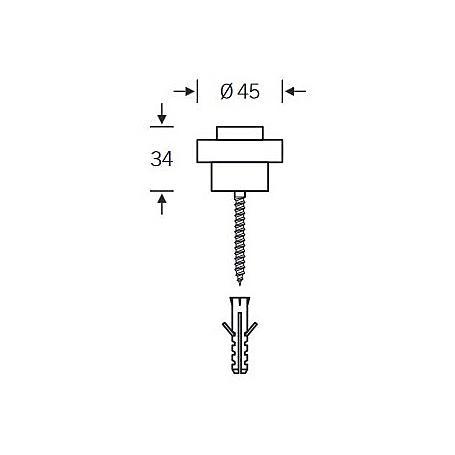 FSB Türpuffer 38 3881 Aluminium F1