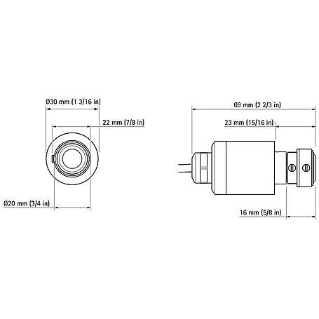 Axis F1015 Sensoreinheit für F-Serie, 12 m