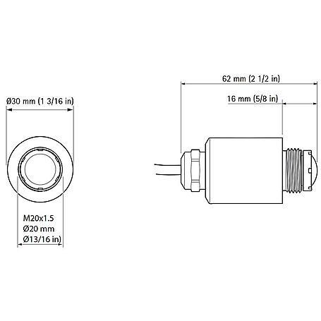 Axis F1035-E Sensoreinheit für F-Serie IP66, 3 m
