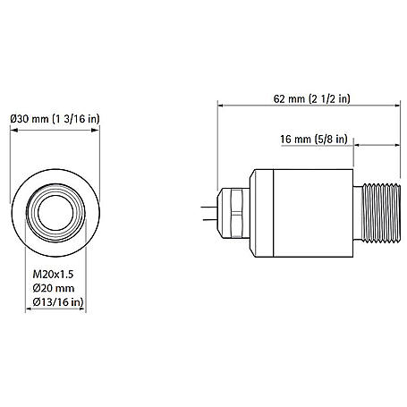 Axis F1005-E Sensoreinheit für F-Serie IP66, 12 m
